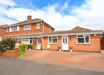 Thumbnail 2 bed semi-detached house for sale in Lowland Avenue, Leicester Forest East, Leicester