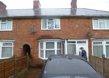 Thumbnail 2 bed terraced house for sale in Overton Road, Birmingham