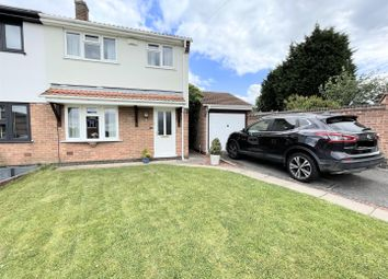 Thumbnail 3 bed semi-detached house for sale in Millfield Croft, Midway, Swadlincote
