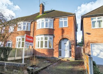Thumbnail 3 bed semi-detached house for sale in Guilford Road, Stoneygate, Leicester