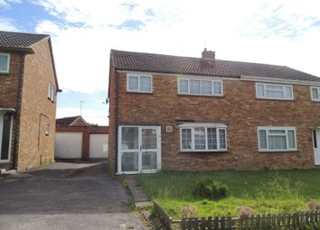Thumbnail 3 bedroom semi-detached house to rent in Glastonbury Close, Bletchley, Milton Keynes