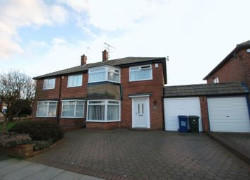 Thumbnail 3 bed semi-detached house for sale in Rothbury Avenue, Gosforth, Newcastle Upon Tyne