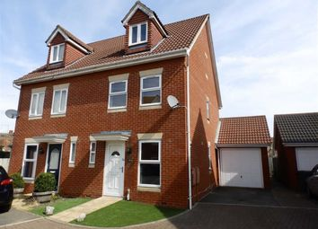 Thumbnail 3 bedroom town house for sale in Tanners View, Ipswich, Suffolk