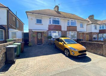 Thumbnail 3 bed semi-detached house for sale in Harding Avenue, Eastbourne, East Sussex