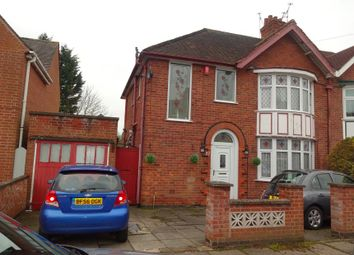 Thumbnail 3 bed semi-detached house for sale in Midway Road, Evington, Leicester