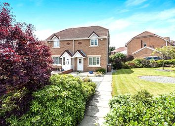 Thumbnail 3 bed semi-detached house for sale in Amberley Close, Wallsend