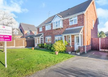 Thumbnail 3 bed semi-detached house for sale in Castleshaw Drive, Littleover, Derby