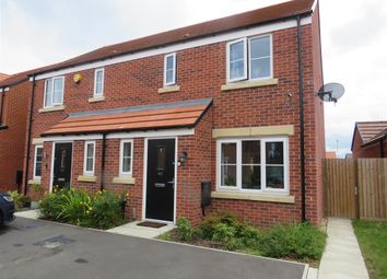 Thumbnail 3 bed semi-detached house for sale in Clovelly Drive, Hampton Gardens, Peterborough