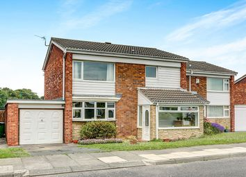 Thumbnail 3 bed semi-detached house for sale in Dunsdale Road, Holywell, Whitley Bay