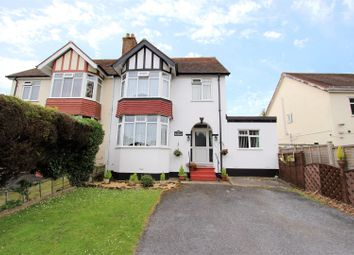 Thumbnail 4 bed semi-detached house for sale in Newton Road, Torquay