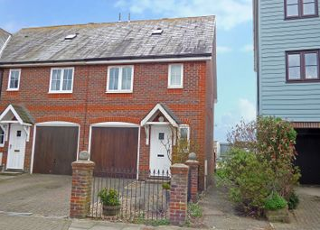 Thumbnail 3 bed end terrace house for sale in The Waterside, River Road, Littlehampton