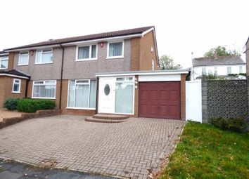 Thumbnail 3 bed semi-detached house for sale in Cotton Close, Plympton, Plymouth