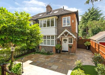 Thumbnail 4 bed semi-detached house for sale in Woodhall, Church Lane, Merton Park