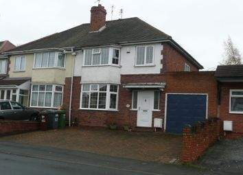 Thumbnail 3 bed semi-detached house to rent in Birchwood Road, Wolverhampton