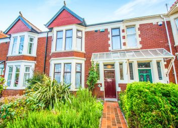 Thumbnail 3 bedroom terraced house for sale in Southminster Road, Penylan, Cardiff