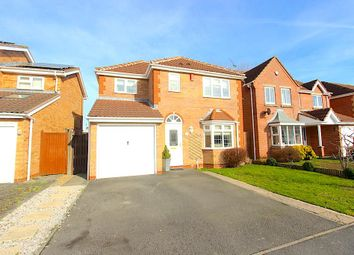 Thumbnail 4 bed detached house for sale in Wheatfield Close, Glenfield, Leicester