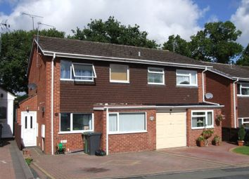 Thumbnail 4 bed semi-detached house to rent in Milcote Close, Redditch