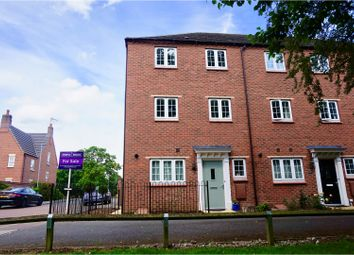 Thumbnail 3 bed town house for sale in Corah Close, Scraptoft