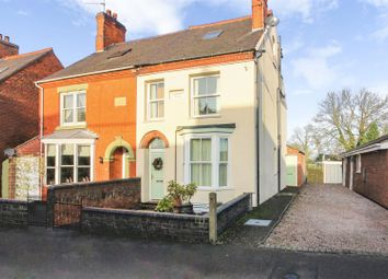 Thumbnail 4 bed semi-detached house for sale in Ashby Road, Donisthorpe