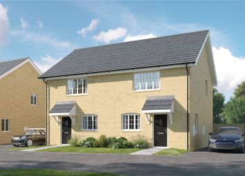 Thumbnail 2 bed semi-detached house for sale in Lesley Way, Brampton, Huntingdon