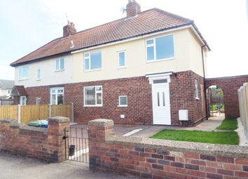 Thumbnail 3 bed semi-detached house to rent in Wembley Road, Langold, Worksop