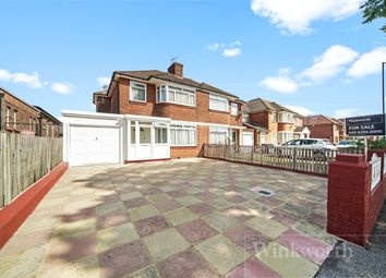 Thumbnail 3 bed semi-detached house for sale in Beverley Drive, Edgware