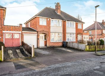 Thumbnail 3 bed semi-detached house for sale in Cardinals Walk, Leicester