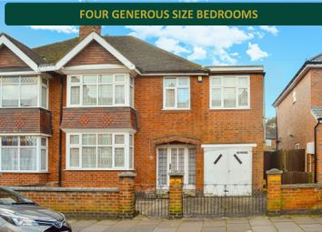 Thumbnail 4 bed semi-detached house for sale in Kimberley Road, Stoneygate, Leicester