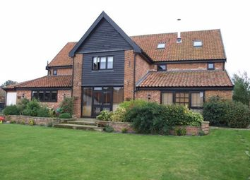 Thumbnail 5 bedroom barn conversion to rent in Woodrising, Norwich