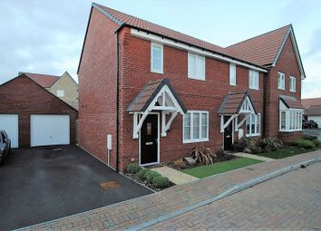 Thumbnail 3 bed end terrace house for sale in Hollyhock Close, Wilstock Village, Bridgwater