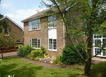 Thumbnail 4 bed detached house to rent in Church Close, Lower Beeding, West Sussex