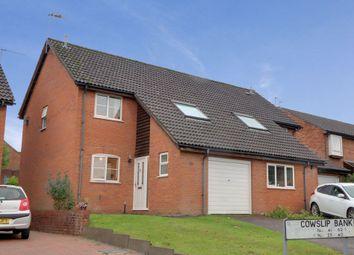 Cowslip Bank, Lychpit, Basingstoke RG24. 3 bed semi-detached house for sale