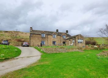 Thumbnail 5 bed farmhouse for sale in Rowarth, High Peak
