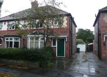 Thumbnail 3 bed semi-detached house to rent in Queens Drive, Grappenhall, Warrington
