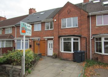 Thumbnail 3 bed terraced house to rent in Haunch Lane, Kings Heath, Birmingham