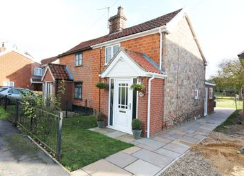 Thumbnail 2 bed semi-detached house for sale in The Street, Bridgham, Norwich