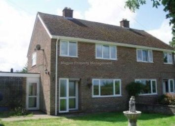 Thumbnail 3 bed semi-detached house to rent in Covington Road, Tilbrook, Huntingdon