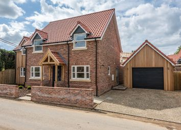 Thumbnail 4 bed detached house for sale in The Poplars, Carvers Lane, Attleborough