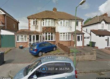 Thumbnail 3 bed semi-detached house to rent in Springfield Crescent, Solihull