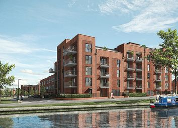 Thumbnail 1 bed duplex for sale in Southall Village, Canalside, London