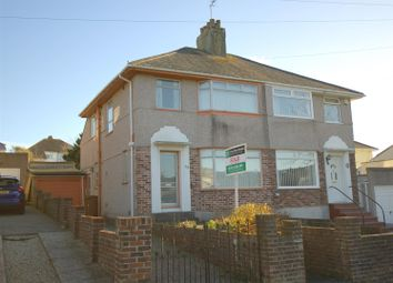 Thumbnail 3 bed semi-detached house for sale in Segrave Road, Plymouth