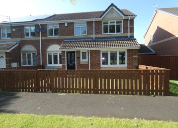 Thumbnail 4 bedroom semi-detached house for sale in Meadow Close, Seghill, Northumberland