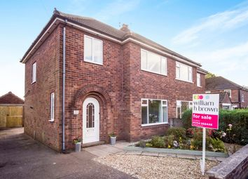 Thumbnail 3 bed semi-detached house for sale in Rugby Road, Scunthorpe