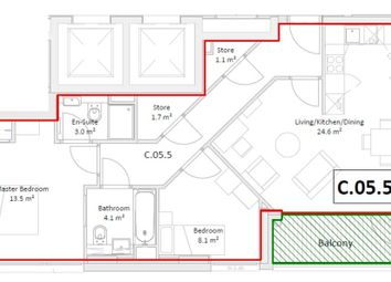 Thumbnail 2 bed flat for sale in Simpsons Road, Bromley