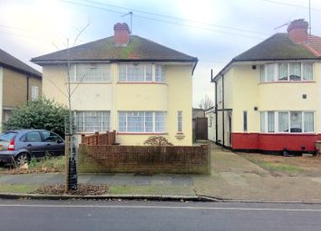 Thumbnail 3 bed semi-detached house for sale in Longford Avenue, Bedfont/Feltham