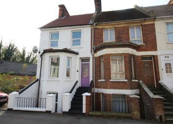 Thumbnail 3 bed end terrace house for sale in Canterbury Road, Folkestone
