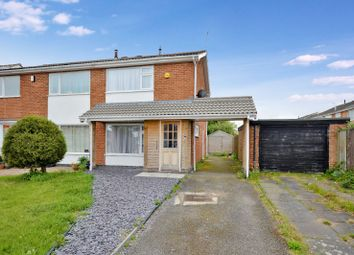 Thumbnail 2 bed semi-detached house for sale in Stour Close, Oadby, Leicester