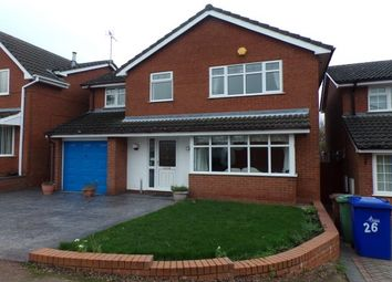 Thumbnail 4 bed detached house to rent in St. Lawrence Drive, Cannock