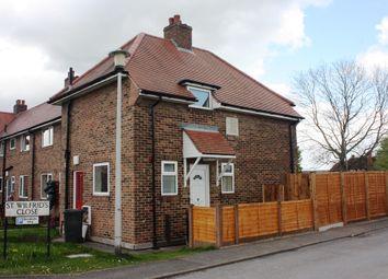 Thumbnail 2 bed end terrace house for sale in St Wilfrids Close, Strensall, York