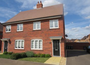 Thumbnail 3 bedroom semi-detached house for sale in Brick Crescent, Stewartby, Bedford